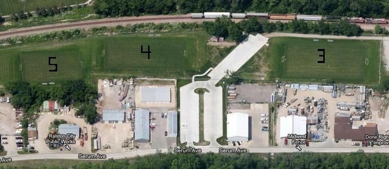 Ralston Soccer Fields Layout