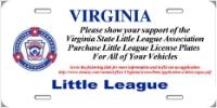 VA Little League License Plate