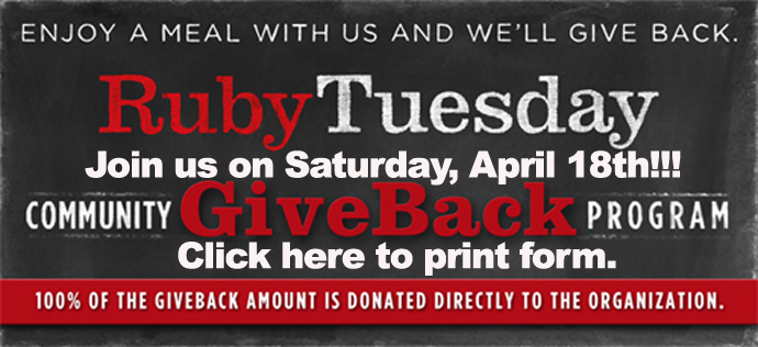 Ruby Tuesday Gives Back 04182015