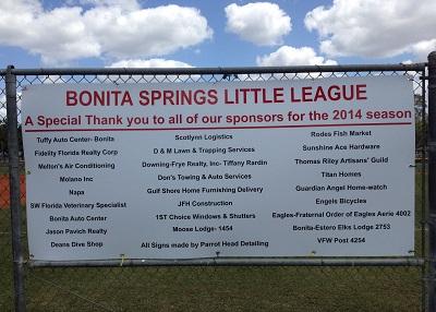 Spring 2014 sponsors sign