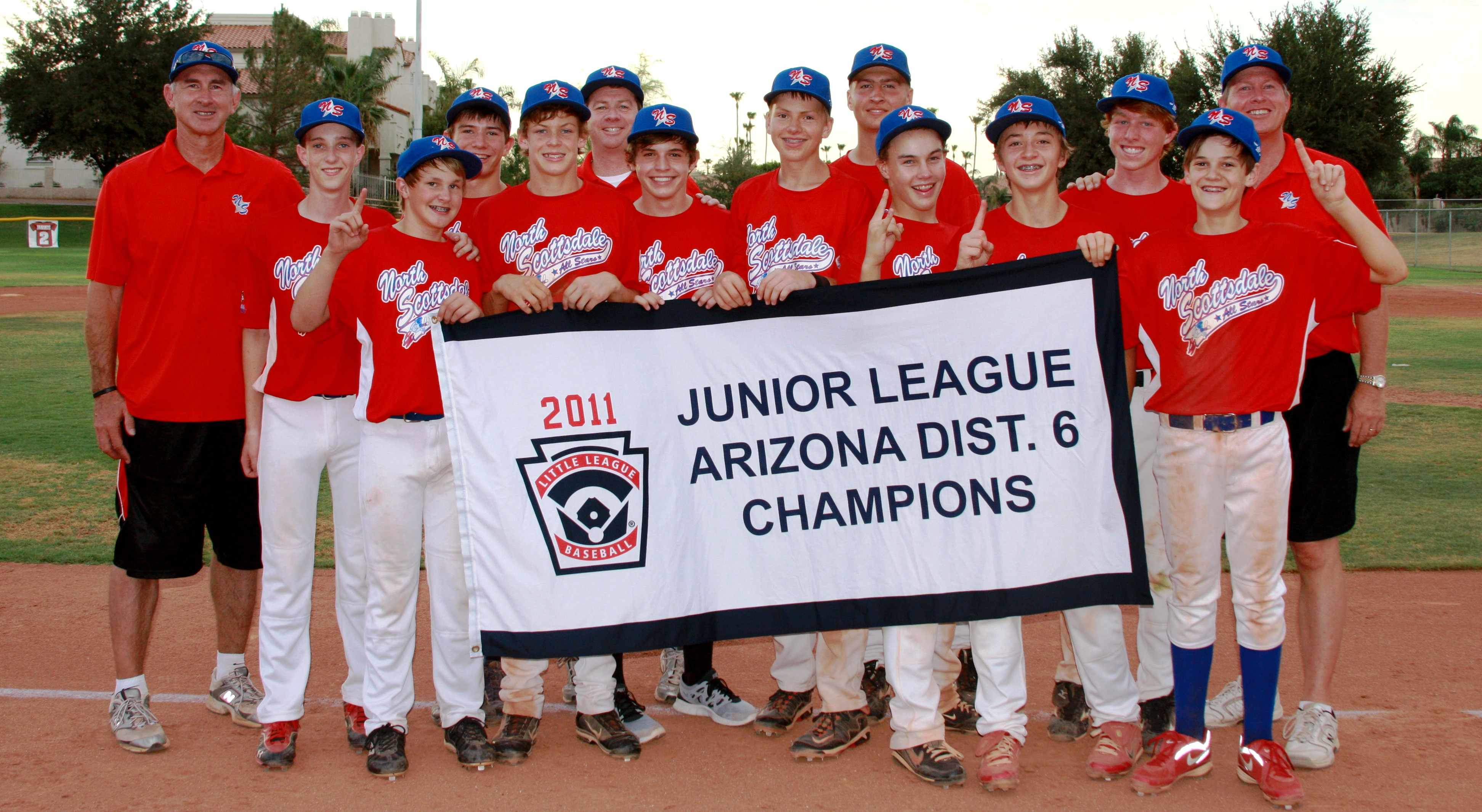 NSLL 2011 AZ6 Junior baseball champs.jpg