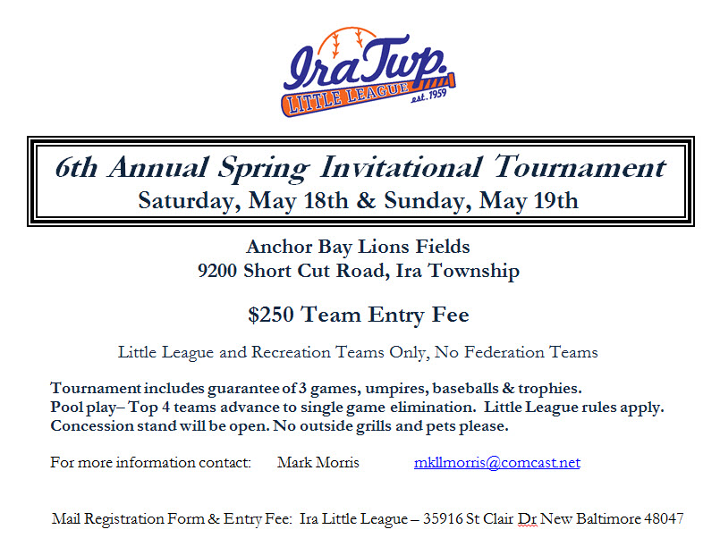 2013 Ira Spring Tournament