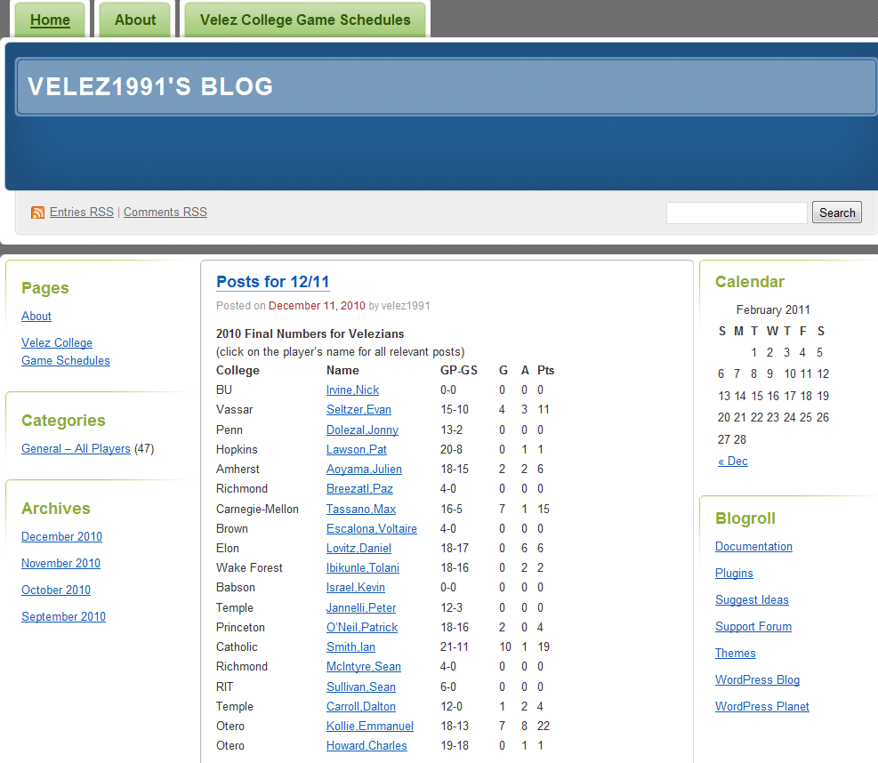 Vélez Blog