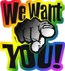 We want you.....