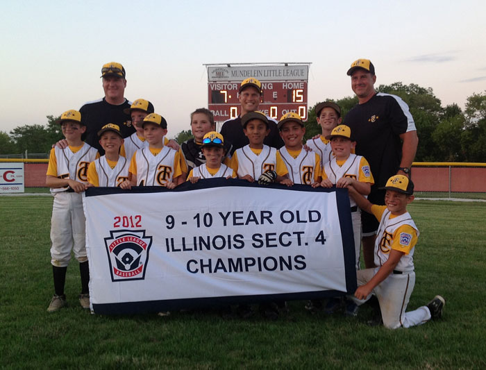 2012 10U Sectional Champs!