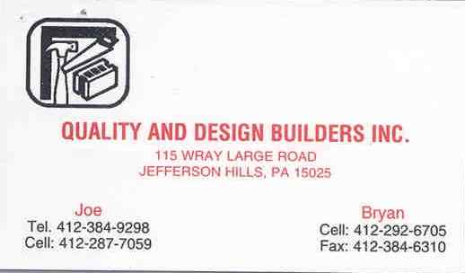 Sponsor - Quality & Design Builders