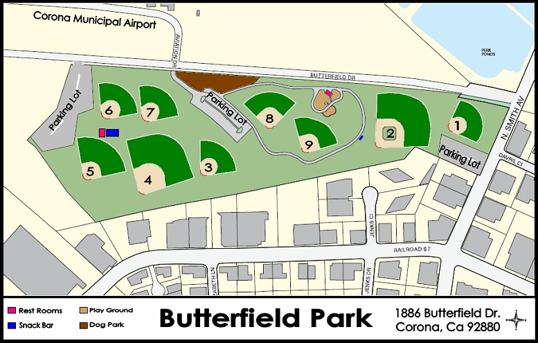 BUTTERFIELD PARK MAP