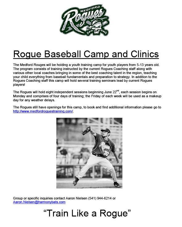 Medford Rogues Summer Camp