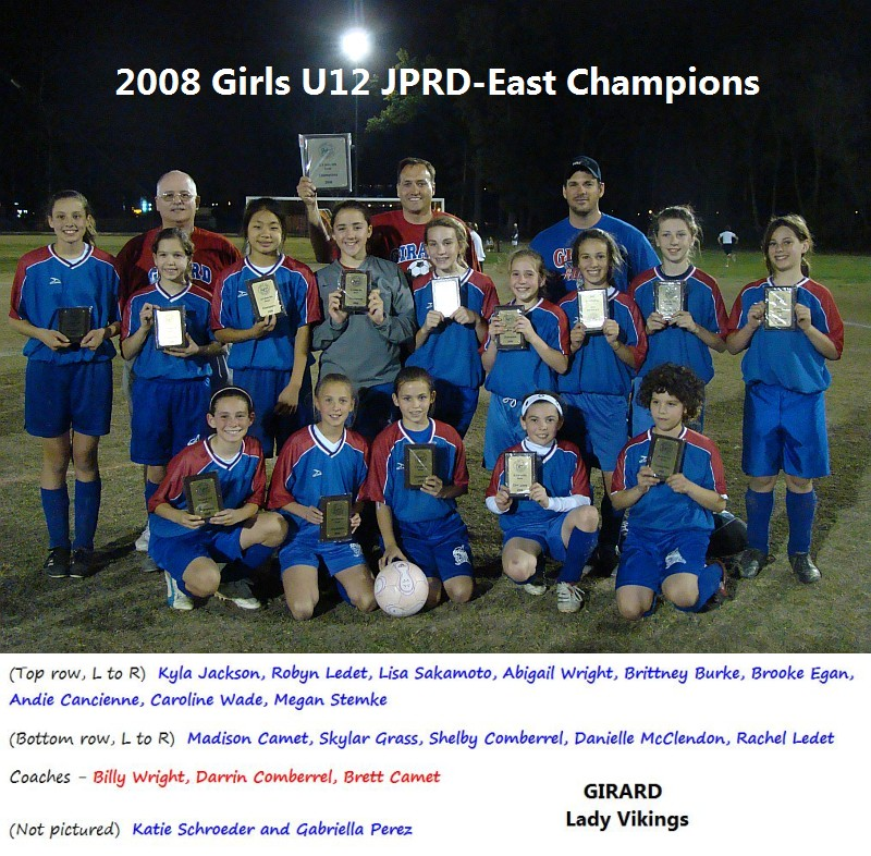 Soccer 08 U12 Girls Champions