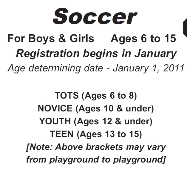 SOCC 11 = Reg + Age Groups