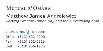 Matthew Addrolewicz ~ Mutual of Omaha