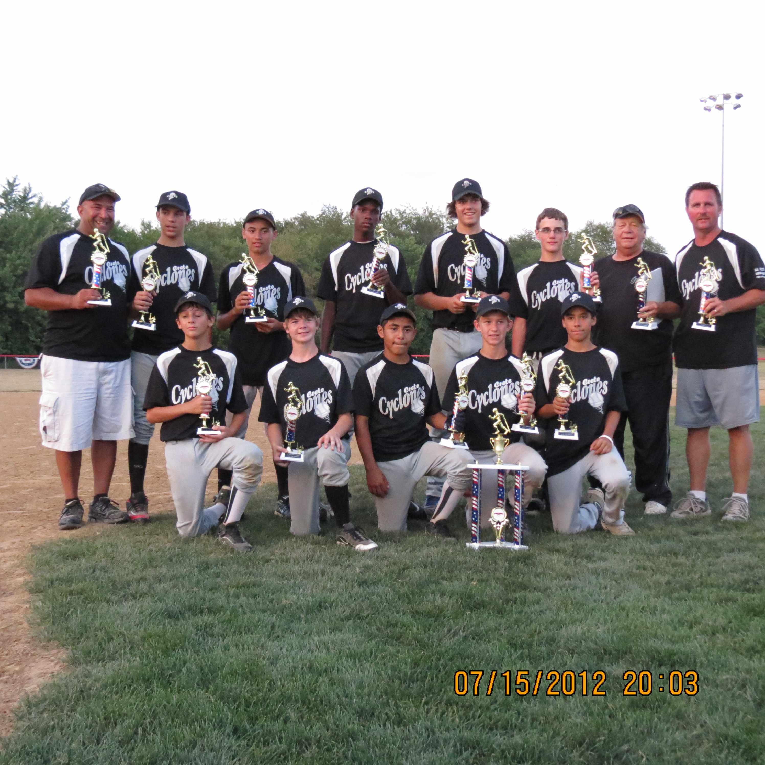 13u Crete Cyclones New Lenox Champs
