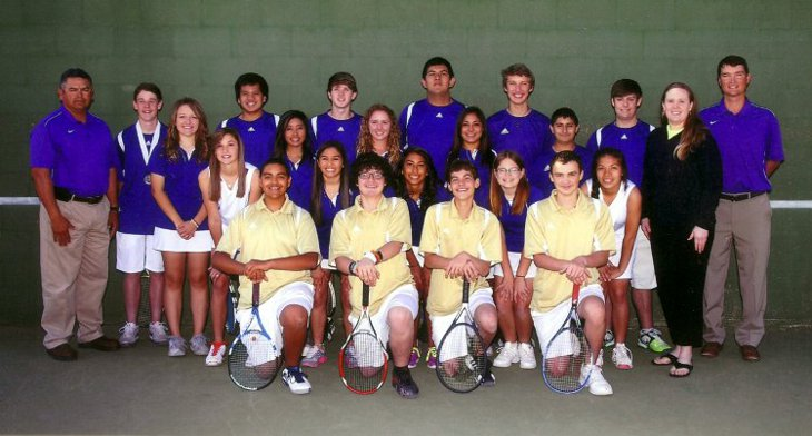2012-2013 Midland High JV &amp; Freshman Tennis Team Picture