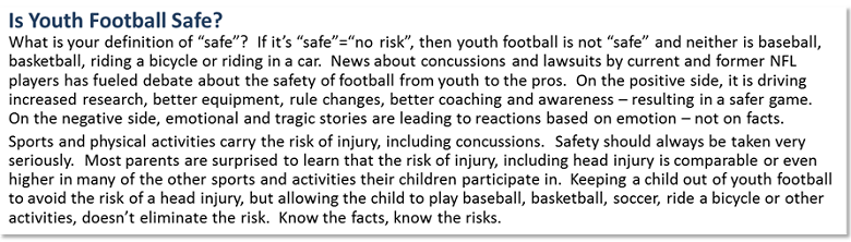 Is Youth Football Safe?