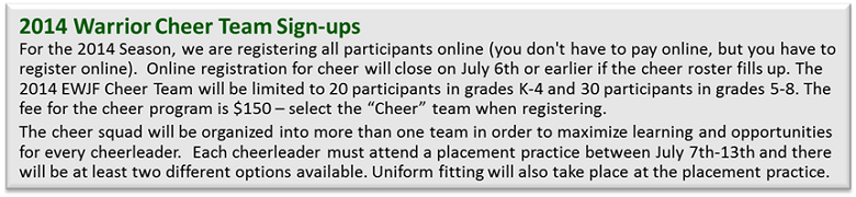 Cheer Team Signups