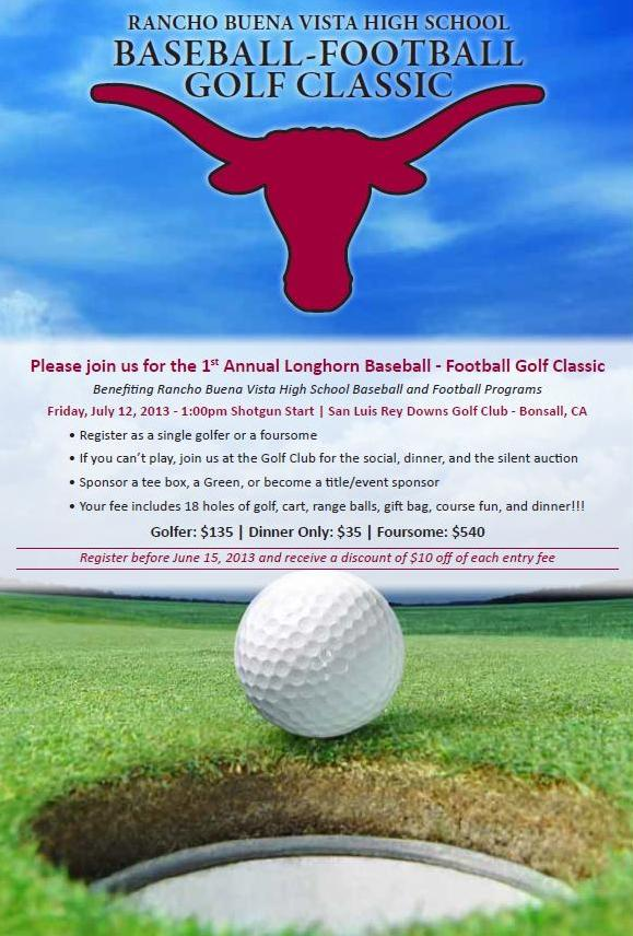 Baseball-Football Golf Flyer