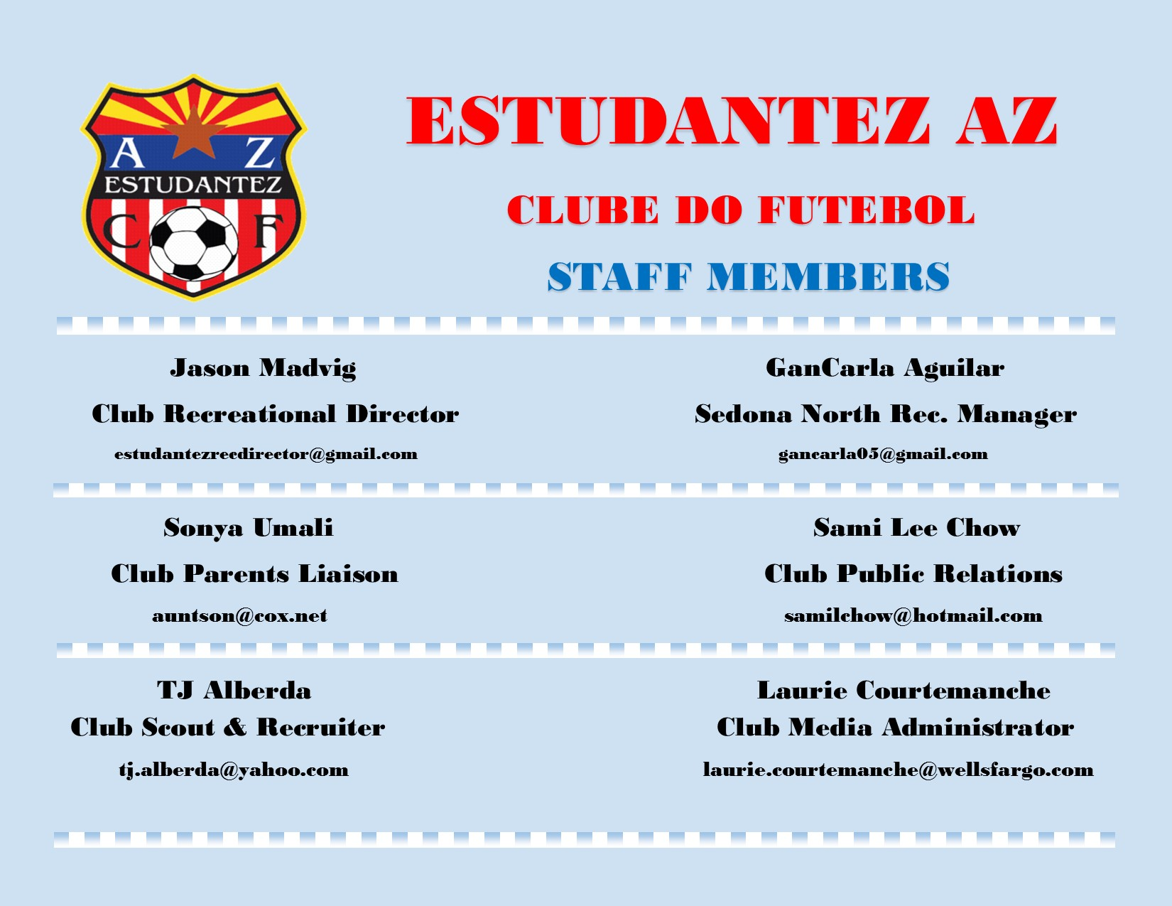 New Club Staff Members