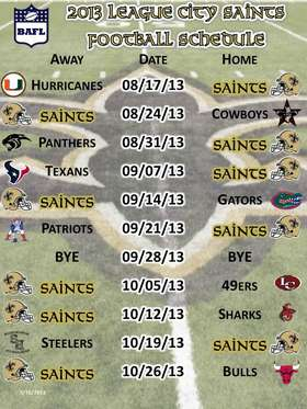 2013 Schedule