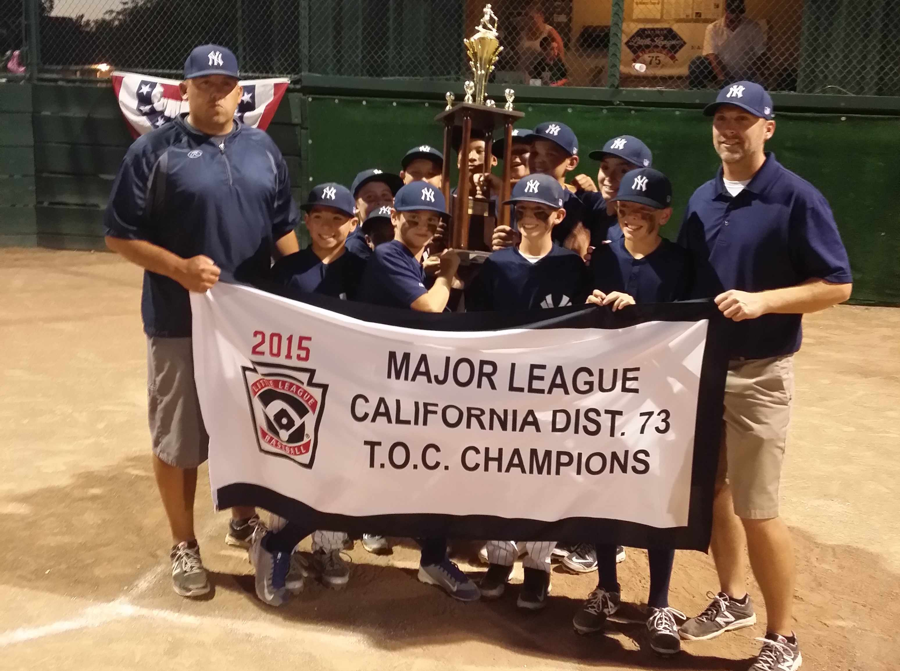 2015 District 73 Majors TOC Champions Turlock American Yankees