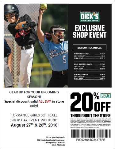 Dick's Sporting Goods Shop Day Discount Flyer
