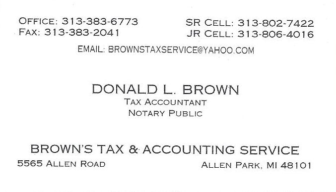 Browns Tax Service