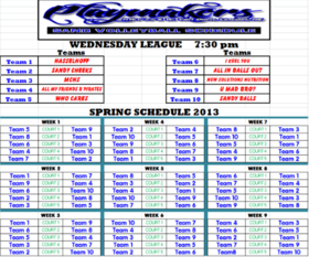 Spring 2013 Wednesday 730 League