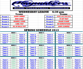Spring 2013 Wednesday 630 League