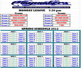 Monday Spring 730 League