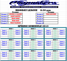Monday Spring 830 League