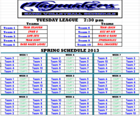 Spring 2013 Tuesday 730 League