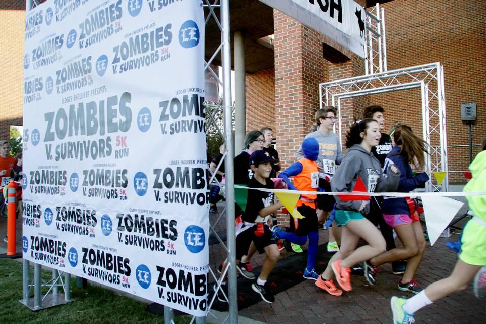 Zombies V Survivors 5k Run Columbus Ga 2016 Active