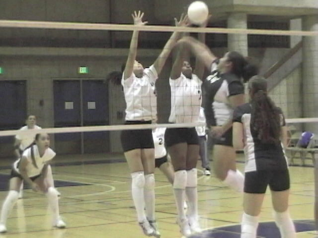 Bianca Turner With A Block Against Laney