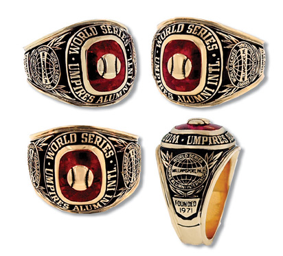World Series Umpire Ring