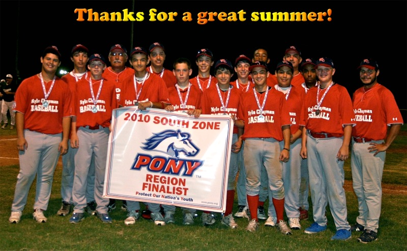 PONY 2010 Region Finalists