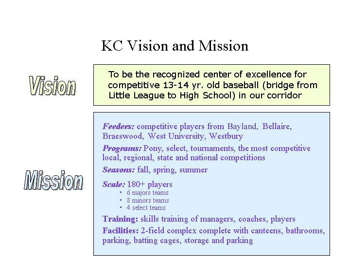 KC Vision&Mission