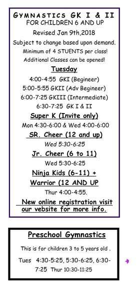 revised schedule 18