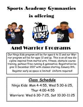 Ninja Kids flyer