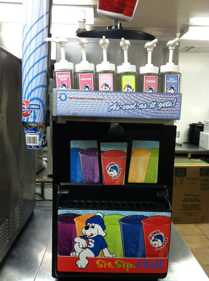 Our new slushie machine!