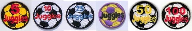 Soccer juggling patches