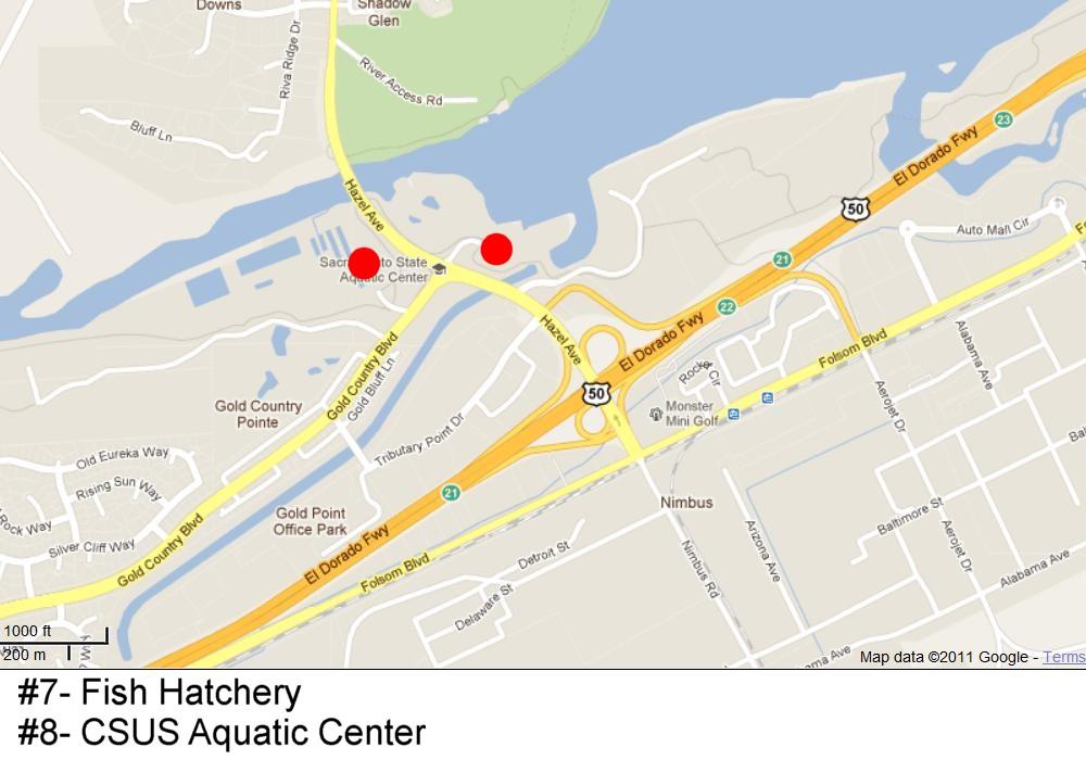 Bb racing locations for Lake natoma fishing