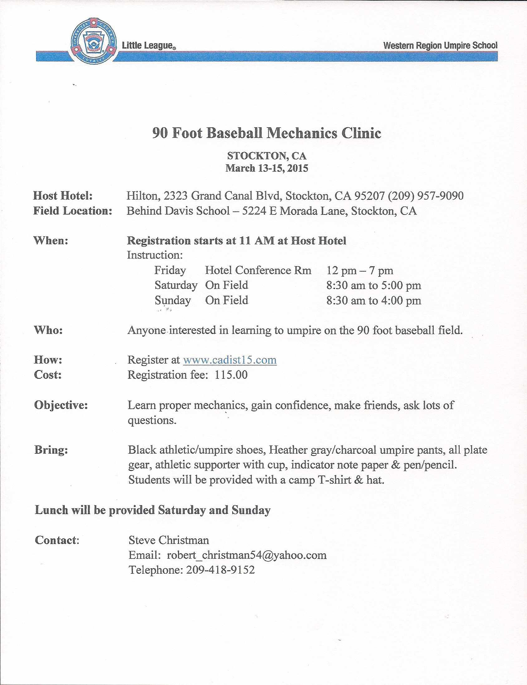 90 Foot Baseball Mechanics Clinic
