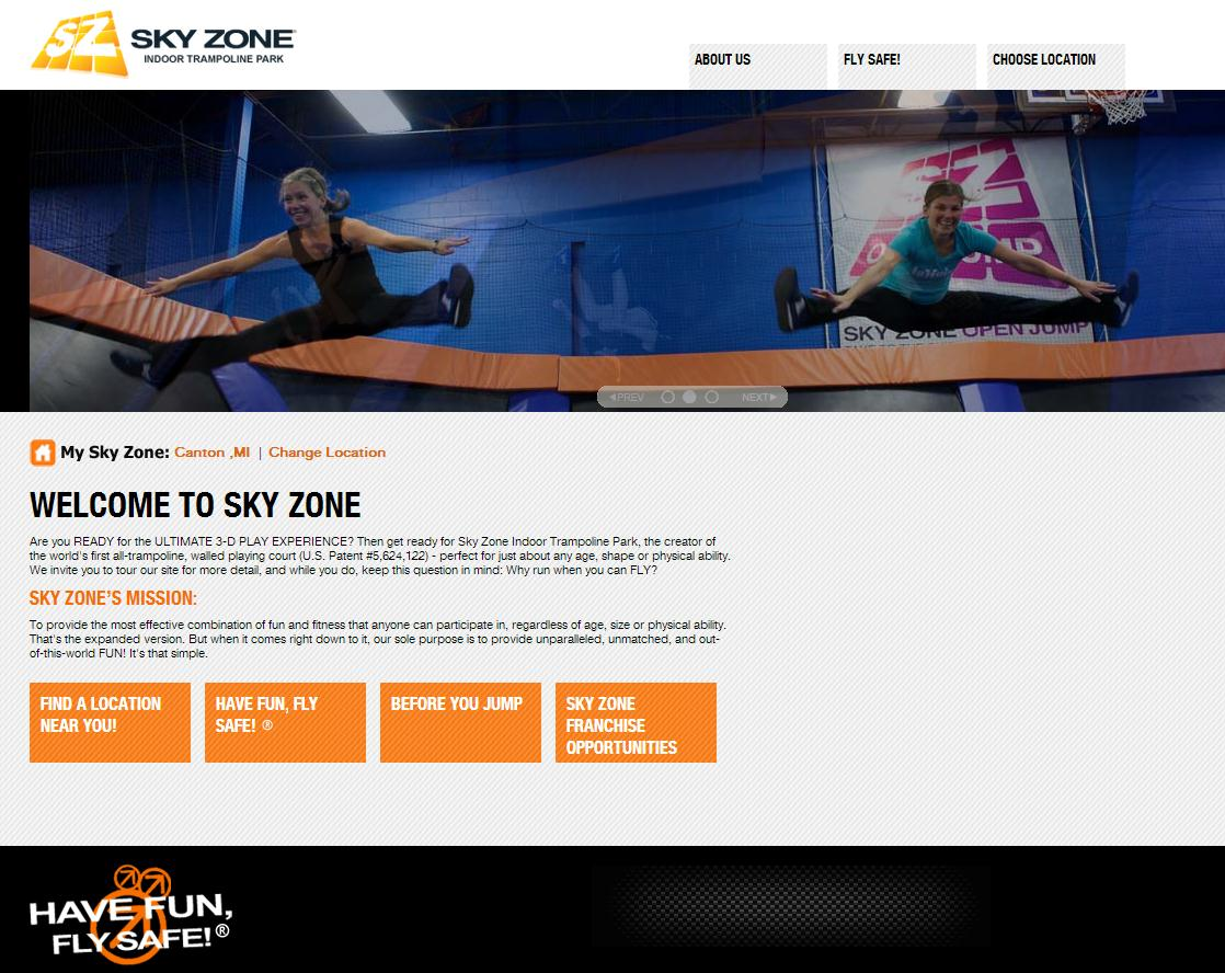 Skyzone Website