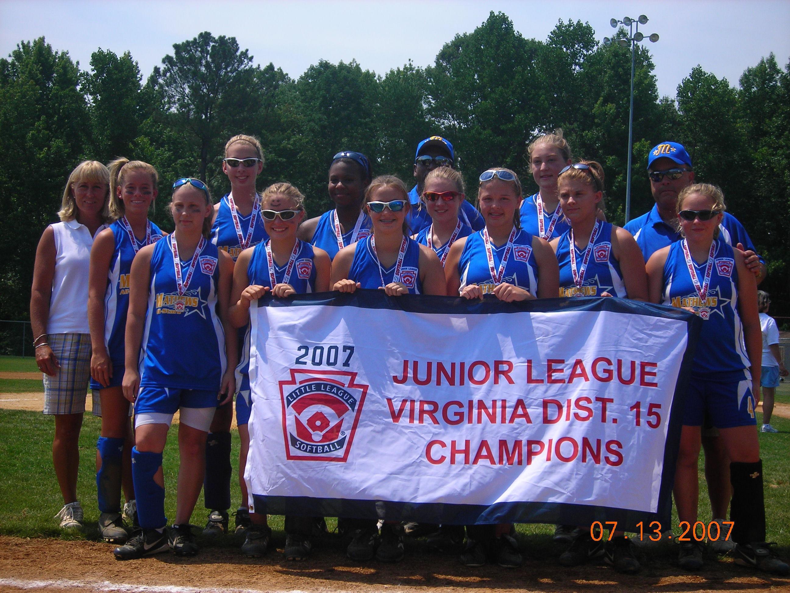 2007 Junior Softball Cahmpions