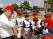 Mayor mound with kids