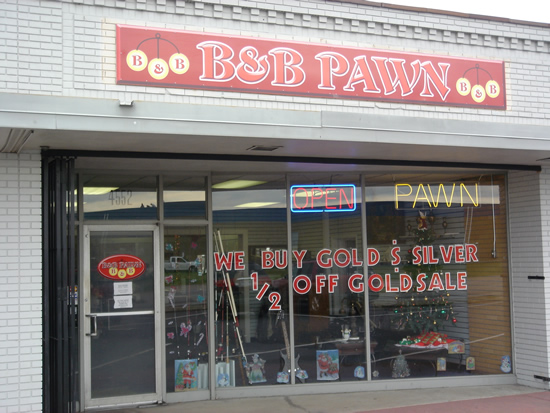 B & B Pawn Storefront