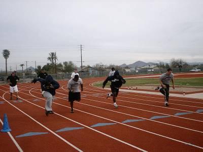 05 combine skill players sprint