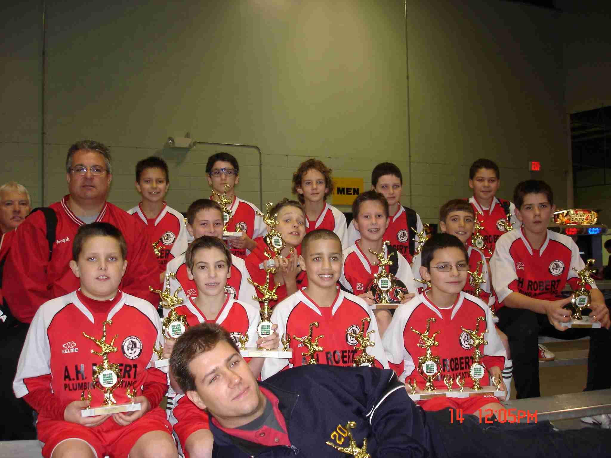 U12 Boys RI Indoor Session 1 Champs