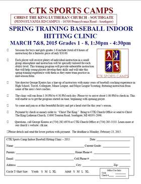 indoor Hitting Clinic