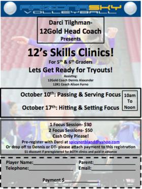 12's Skills Clinic!