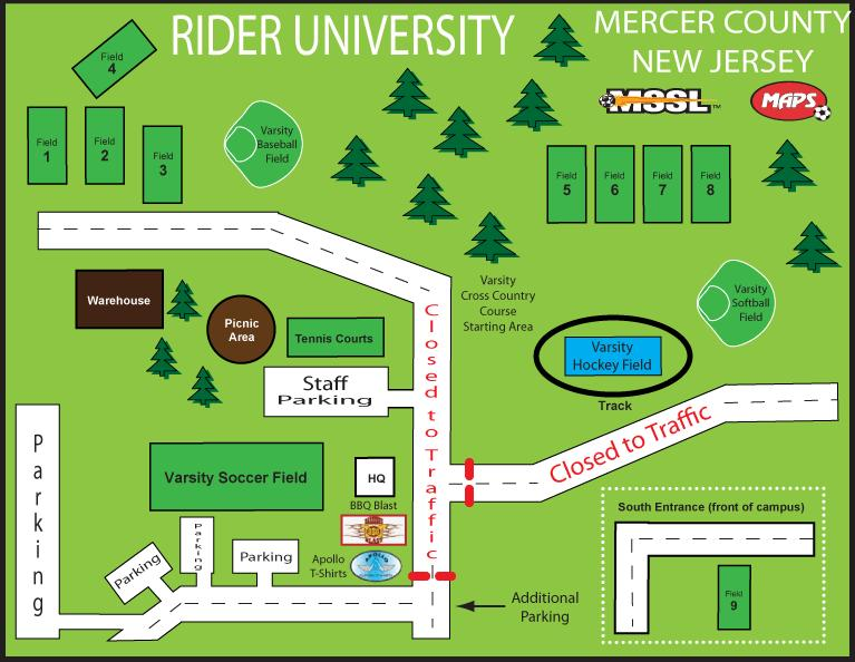 Rider Cup Field Map